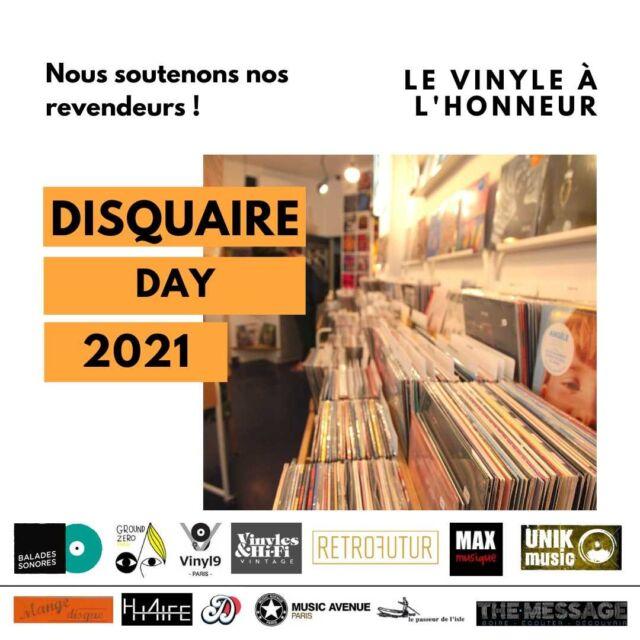 Demain c'est le premier #DisquaireDay de l'année ! Rendez-vous chez les disquaires de notre réseau 😎 #Vinyle #Musique #Music #Vinyle #Audiophile #Mélomane #Disques #Vinyl